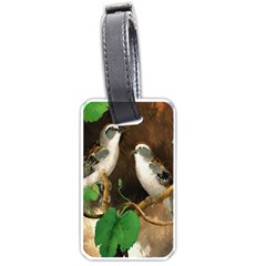 Backdrop Colorful Bird Decoration Luggage Tags (Two Sides)