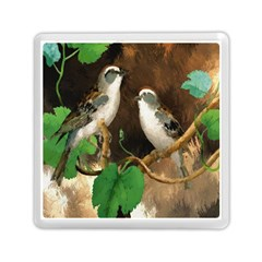 Backdrop Colorful Bird Decoration Memory Card Reader (Square)