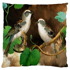 Backdrop Colorful Bird Decoration Large Cushion Case (Two Sides)