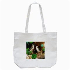 Backdrop Colorful Bird Decoration Tote Bag (white)