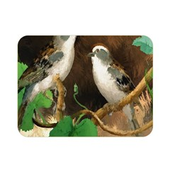 Backdrop Colorful Bird Decoration Double Sided Flano Blanket (Mini)