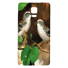 Backdrop Colorful Bird Decoration Galaxy Note 4 Back Case