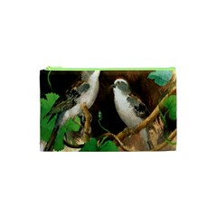 Backdrop Colorful Bird Decoration Cosmetic Bag (XS)
