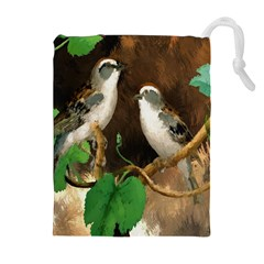 Backdrop Colorful Bird Decoration Drawstring Pouches (extra Large)