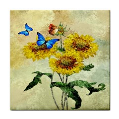 Backdrop Colorful Butterfly Tile Coasters
