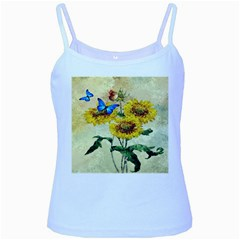 Backdrop Colorful Butterfly Baby Blue Spaghetti Tank