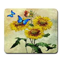 Backdrop Colorful Butterfly Large Mousepads