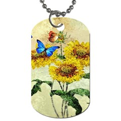 Backdrop Colorful Butterfly Dog Tag (One Side)