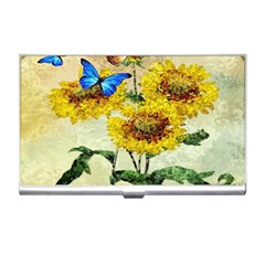 Backdrop Colorful Butterfly Business Card Holders