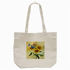 Backdrop Colorful Butterfly Tote Bag (cream)