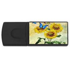 Backdrop Colorful Butterfly Usb Flash Drive Rectangular (4 Gb)