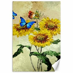 Backdrop Colorful Butterfly Canvas 12  x 18