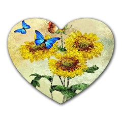 Backdrop Colorful Butterfly Heart Mousepads