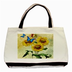 Backdrop Colorful Butterfly Basic Tote Bag (Two Sides)