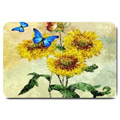 Backdrop Colorful Butterfly Large Doormat