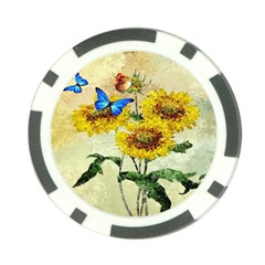 Backdrop Colorful Butterfly Poker Chip Card Guard