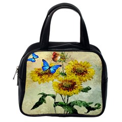 Backdrop Colorful Butterfly Classic Handbags (One Side)