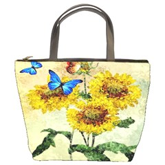 Backdrop Colorful Butterfly Bucket Bags