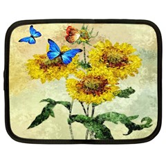Backdrop Colorful Butterfly Netbook Case (XL)