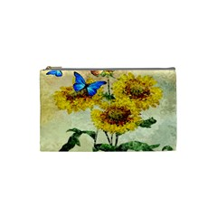 Backdrop Colorful Butterfly Cosmetic Bag (Small)