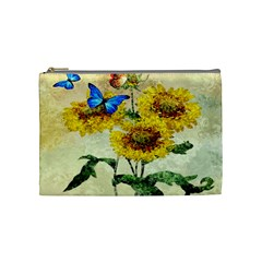 Backdrop Colorful Butterfly Cosmetic Bag (Medium)
