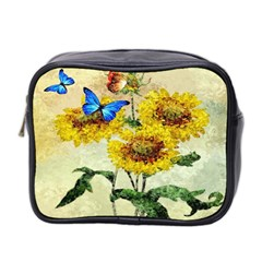 Backdrop Colorful Butterfly Mini Toiletries Bag 2-Side