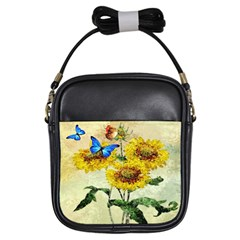 Backdrop Colorful Butterfly Girls Sling Bags