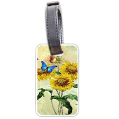 Backdrop Colorful Butterfly Luggage Tags (two Sides)