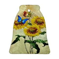 Backdrop Colorful Butterfly Ornament (bell)