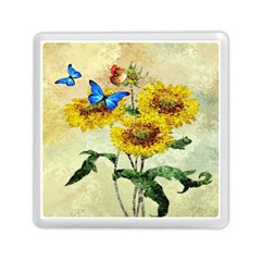 Backdrop Colorful Butterfly Memory Card Reader (Square)
