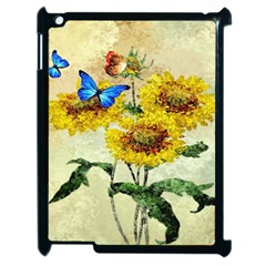Backdrop Colorful Butterfly Apple iPad 2 Case (Black)