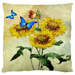 Backdrop Colorful Butterfly Large Cushion Case (two Sides)