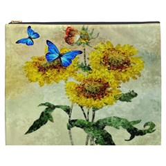 Backdrop Colorful Butterfly Cosmetic Bag (XXXL)