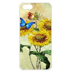 Backdrop Colorful Butterfly Apple Iphone 5 Seamless Case (white)