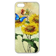 Backdrop Colorful Butterfly Apple Seamless iPhone 5 Case (Clear)