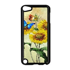 Backdrop Colorful Butterfly Apple Ipod Touch 5 Case (black)