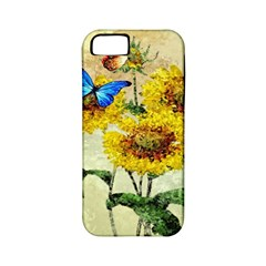 Backdrop Colorful Butterfly Apple iPhone 5 Classic Hardshell Case (PC+Silicone)