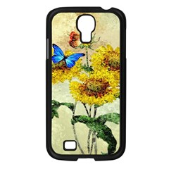 Backdrop Colorful Butterfly Samsung Galaxy S4 I9500/ I9505 Case (black)