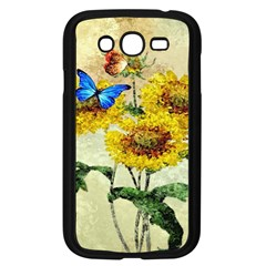 Backdrop Colorful Butterfly Samsung Galaxy Grand DUOS I9082 Case (Black)