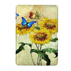 Backdrop Colorful Butterfly Samsung Galaxy Tab 2 (10 1 ) P5100 Hardshell Case