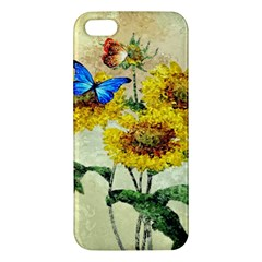 Backdrop Colorful Butterfly iPhone 5S/ SE Premium Hardshell Case