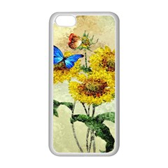 Backdrop Colorful Butterfly Apple Iphone 5c Seamless Case (white)