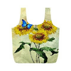 Backdrop Colorful Butterfly Full Print Recycle Bags (m)