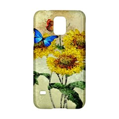 Backdrop Colorful Butterfly Samsung Galaxy S5 Hardshell Case