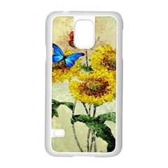 Backdrop Colorful Butterfly Samsung Galaxy S5 Case (White)