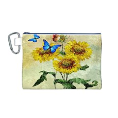 Backdrop Colorful Butterfly Canvas Cosmetic Bag (M)