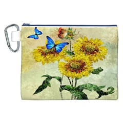 Backdrop Colorful Butterfly Canvas Cosmetic Bag (xxl)