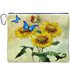 Backdrop Colorful Butterfly Canvas Cosmetic Bag (XXXL)