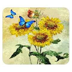 Backdrop Colorful Butterfly Double Sided Flano Blanket (Small)