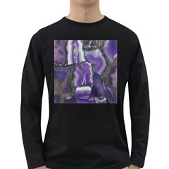 Purple Agate Natural Long Sleeve Dark T Shirts